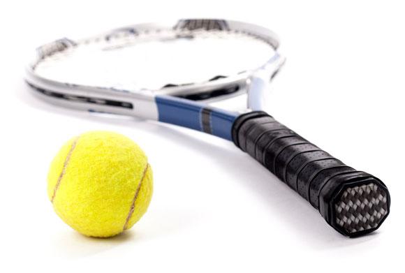 Dr. Gavin E. Gordon Playing Tennis