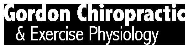Gordon Chiropractic Logo White Retina